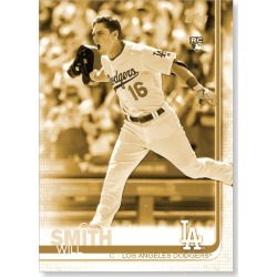 Will Smith 2019 Topps Baseball Update Series Short Printed Base Card Photo Variation Poster Gold Ed. # to 1