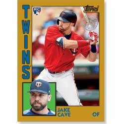 Jake Cave 2019 Topps Baseball Series 2 1984 Topps Baseball Rookies Poster Gold Ed. # to 1