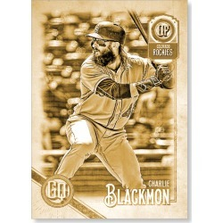 Charlie Blackmon 2018 Topps Gypsy Queen Baseball Jackie Robinson Image Variation Poster Gold Ed. - #'d to 1 found on Bargain Bro Philippines from Topps for $99.99