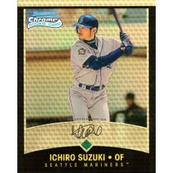 ICHIRO SUZUKI AUTOGRAPHED 2001 BOWMAN CHROME ROOKIE 8X10 JUMBO CARD - JAPANESE VARIATION - SUPERFRACTOR # to 1 found on Bargain Bro India from Topps for $2499.99