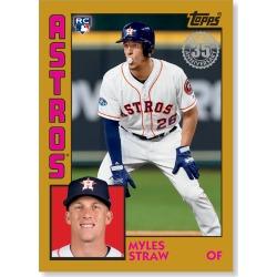 Myles Straw 2019 Topps Baseball Series 2 1984 Topps Baseball Rookies Poster Gold Ed. # to 1