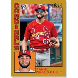 Daniel Ponce De Leon 2019 Topps Baseball Series 2 1984 Topps Baseball Rookies Poster Gold Ed. # to 1