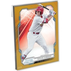 2019 Bowman Sterling Baseball Oversized Complete Base Set (100 Cards) Gold Ed. - # to 10