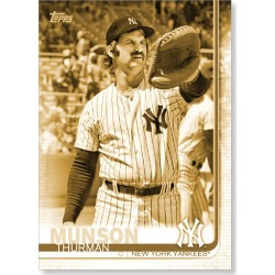 Thurman Munson 2019 Topps Baseball Update Series Short Printed Base Card Photo Variation Poster Gold Ed. # to 1