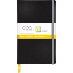 "Wholesale Journals & Executive Notebooks: Discounts on Idea Collective Medium Hardcover Journal, 8-1/4"" x 5"", Wide Rule, Black Cover, 120 SH/BK TOP568"