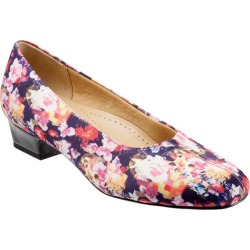 Trotters Doris Women's Shoes Wash Floral Micro Suede 6 Wide (D) found on Bargain Bro India from trotters for $94.95