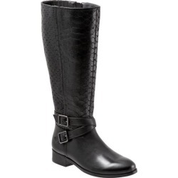 Trotters Liberty Wide Calf Women's Shoes Black Embossed 7 Wide (D) found on Bargain Bro Philippines from trotters for $119.99