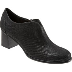 Trotters Qutie Women's Shoes Black Lizard 8 Wide (D) found on Bargain Bro India from trotters for $124.95