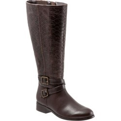 Trotters Liberty Women's Shoes Dark Brown Embossed 6 Wide (D) found on Bargain Bro Philippines from trotters for $119.99