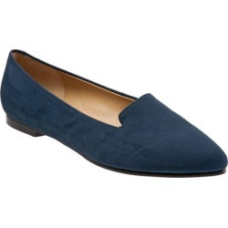 Trotters Harlowe Women's Shoes Navy Micro Suede 7.5 Wide (D) found on Bargain Bro Philippines from trotters for $99.95