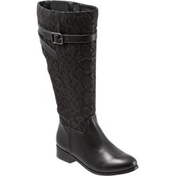 Trotters Lyra Wide Calf Women's Shoes Black Snake 6 Medium (B) found on Bargain Bro India from trotters for $59.99