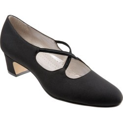 Trotters Jamie Women's Shoes Black Micro 10 Wide (D) found on Bargain Bro Philippines from trotters for $99.95