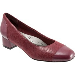 Trotters Danelle Women's Shoes Dark Red Patent Suede 6 Medium (B) found on Bargain Bro India from trotters for $69.99