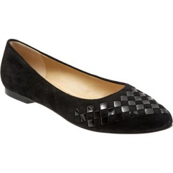 Trotters Estee Woven Women's Shoes Black Patent Suede 11 Medium (B) found on Bargain Bro from trotters for USD $102.60