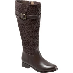Trotters Lyra Wide Calf Women's Shoes Dark Brown Snake 7.5 Wide (D) found on Bargain Bro from trotters for USD $45.59