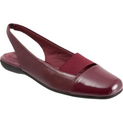 Trotters Sarina Women's Shoes Dark Red 8 Wide (D) found on Bargain Bro India from trotters for $49.99