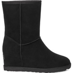 UGG Women's Classic Femme Short Suede In Black, Size 6