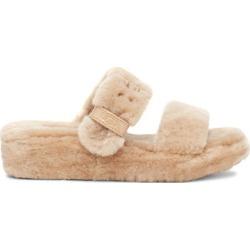 UGG Women's Fuzz Yeah Sheepskin In Brown, Size 5