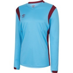 SPARTAN LS JERSEY M Sky Blue / New Claret found on Bargain Bro from umbro.co.uk for £17