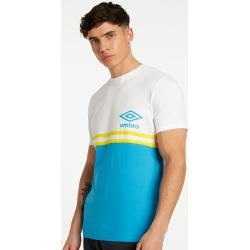 BLOCK STRIPE TEE XXL Brilliant White / Empire Yellow / Ibiza Blue