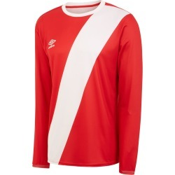 NAZCA LS JERSEY L Vermillion / White found on Bargain Bro from umbro.co.uk for £22