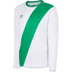 NAZCA LS JERSEY JUNIOR YM White / Emerald found on Bargain Bro from umbro.co.uk for £18