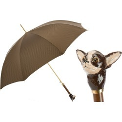 Pasotti Brown Check Luxury Umbrella with Chihuahua Handle found on Bargain Bro UK from Unineed Limited CN