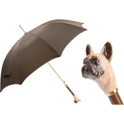 Pasotti Brown Luxury Umbrella with French Bulldog Handle found on Bargain Bro UK from Unineed Limited CN