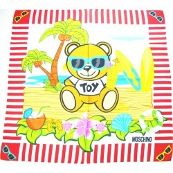 Moschino Toy Bear Island Silk Scarf - Red found on Bargain Bro UK from Unineed Limited CN