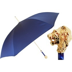 PASOTTI Blue Umbrella with Gold Lion Handle found on Bargain Bro UK from Unineed Limited CN