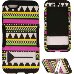 Hopper Protector Case for Apple iPhone 6 (Tribal Design Snap and Black Skin) found on Bargain Bro Philippines from Unlimited Cellular for $7.59
