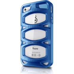 APPLE IPHONE 4 / IPHONE 4S MUSUBO DOUBLE X CASE - BLUE - RETAIL PACKAGED