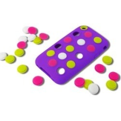 Incipio Dotties Case for iPhone 3G/3GS, Purple, Lime, White, Neon Pink