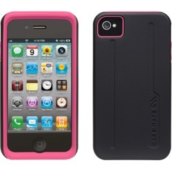 Case-Mate Tough Case for iPhone 4S / 4 (Black/Pink)