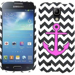 Unlimited Cellular Snap-On Protector Case for Samsung Galaxy S4 Mini (Pink Achor on B&W Chevron) found on Bargain Bro from Unlimited Cellular for USD $4.55