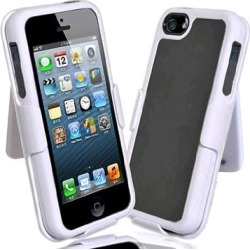 Decoro Element Hybrid Case with Holster for Apple iPhone 5 - Gray/Black/White