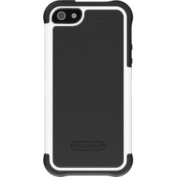 Apple Iphone 5/5s Agf Ballistic Tough Jacket Series Case - Black And White