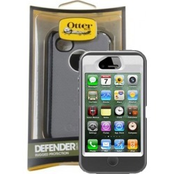 OtterBox - Defender Case for iPhone 4/4s - White/Gunmetal Gray