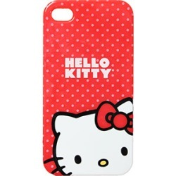 Hello Kitty Protector Case, Red Polka Dits for iP4