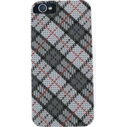 Cell Armor Hybrid Fit-On Case for Apple iPhone 5/5S - White and Gray Plaid
