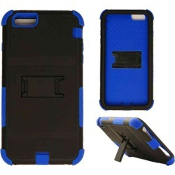 Cell Armor - Novelty Protector Case with Stand for Apple iPhone 6 Plus - Black and Blue