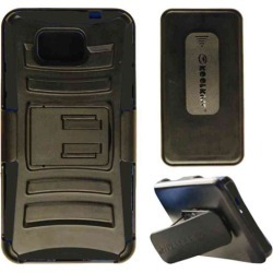 Cell Armor - Snap on Novelty Protector Case with Holster for Samsung Galaxy Alpha - Black