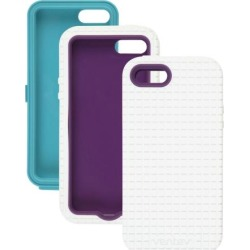 Ventev - Coregridx Combo Pack for Apple iPhone 5 - White Gel with Aqua & Purple Shells found on Bargain Bro India from Unlimited Cellular for $9.99