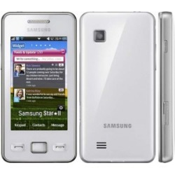 White - Samsung STAR II GT-S5260 Cell Phone, 3.2 MP Camera, WIFI, Touchscreen, QUADBAND GSM World Phone - Unlocked