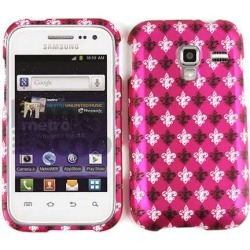 Snap-On Protector Case for Samsung R820 (Black and White Fleur-De-Lis on Pink) found on Bargain Bro India from Unlimited Cellular for $5.99