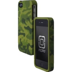 Incipio - EDGE Hard Slider Shell Case for Apple iPhone 4/4S Cell Phones - Olive Green Camo