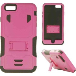 Cell Armor - Novelty Protector Case With Stand for Apple iPhone 6 Plus - Light Purple and Black
