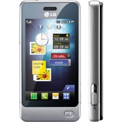 Silver - LG Pop GD510 Cell Phone, 3 MP Camera, Touch Screen, MP3 Player, Bluetooth, GSM Quad-Band World Phone - Unlocked