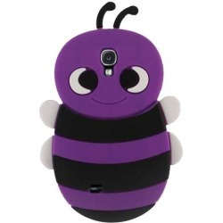 Unlimited Cellular Rubber Silicone Novelty Case for Samsung Galaxy S4 (Purple Bee)