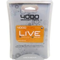 Xbox 360 - Subscription Card - Xbox Live - 4000 Points (Microsoft) found on GamingScroll.com from Unlimited Cellular for $65.79